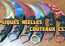 Répliques IRL des couteaux CS GO